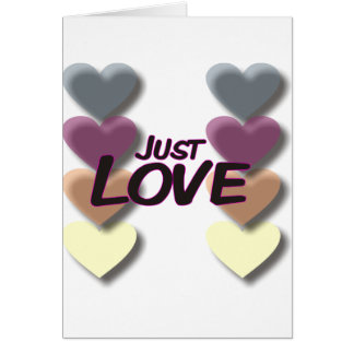 Just Love Greeting Card