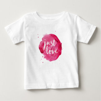 Just Love pink watercolor kids T-shirt