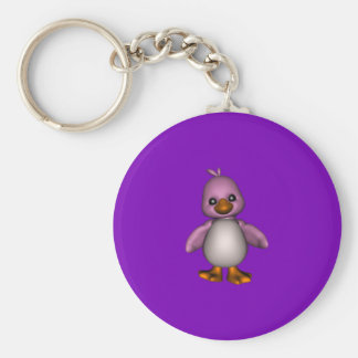 Just  Luv  A  Duck Basic Round Button Key Ring