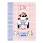 Just Married 13 Cm X 18 Cm Invitation Card