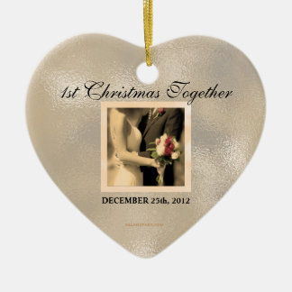 Just Married 1st Christmas Ornament 2012