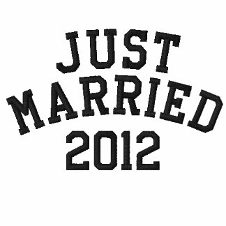 Just Married 2012 Embroidered Polo Shirts