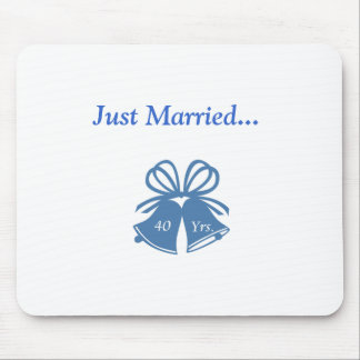 Just Married 40 Yrs. Mouse Pad