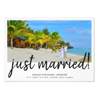 Just Married | 4 Photo Wedding Announcement