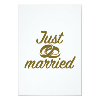 Just married 9 cm x 13 cm invitation card