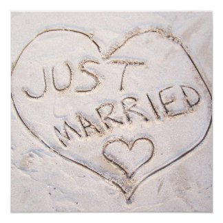 Just Married Announcement