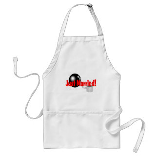 Just Married Ball and Chain Standard Apron
