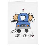 Just Married Bride and Groom T-shirts and Gifts Cards