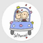 Just Married Bride and Groom T-shirts and Gifts Sticker