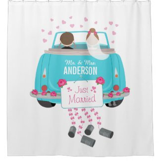 Just Married Shower Curtain