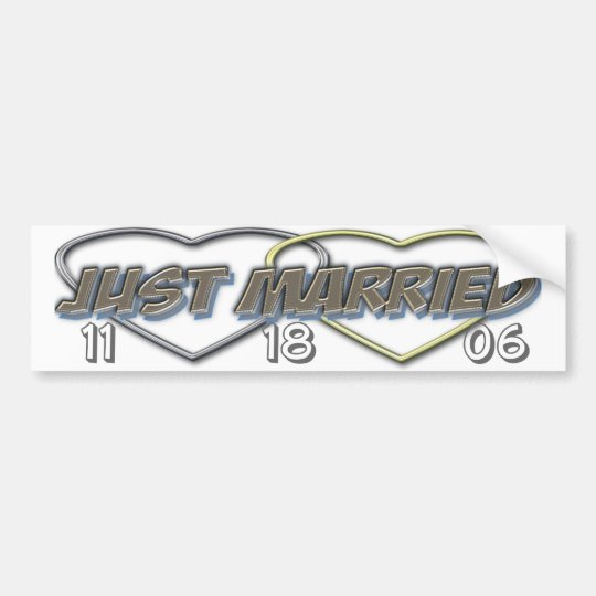 Just married bumper (change the date ) bumper sticker
