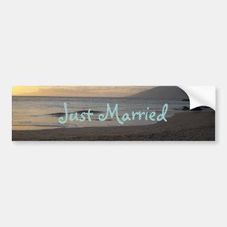 Just Married Bumper Sticker