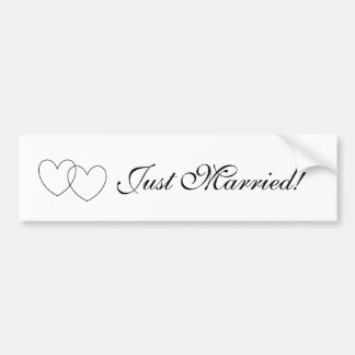 """Just Married!"" Bumper Sticker"