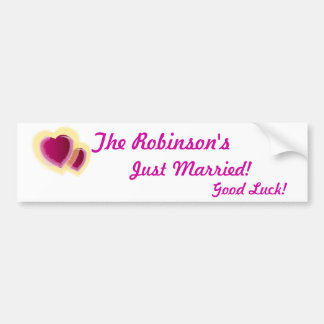 Just Married Bumper Sticker-Customize Bumper Sticker
