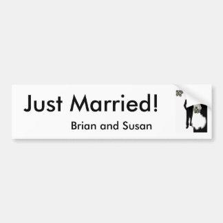 Just Married! Bumper Sticker Template