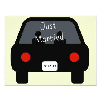 Just Married Car 11 Cm X 14 Cm Invitation Card