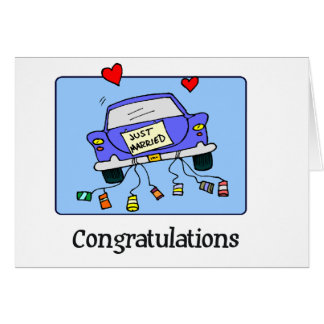 Just Married -  Car Greeting Card