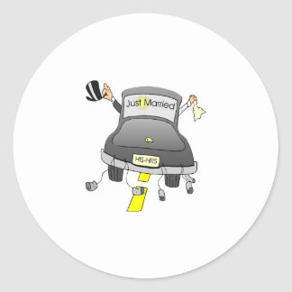 Just Married (Car) Classic Round Sticker