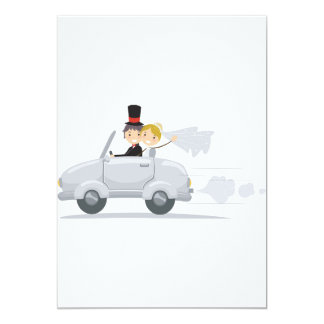 Just Married Car Invitations