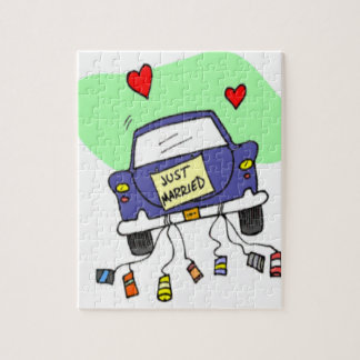 Just Married Car Puzzles