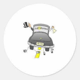 Just Married (Car) Round Sticker
