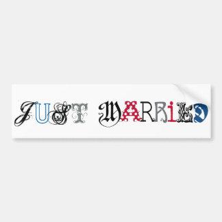 Just married Car Sticker Bumper Sticker