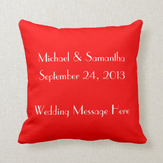 Just Married Champagne Toast Throw Cushion