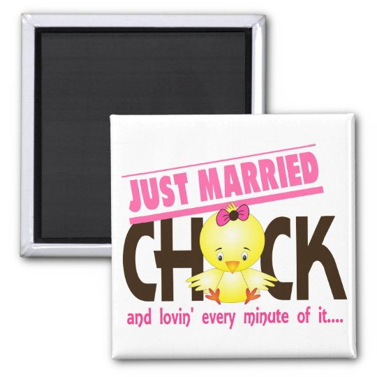 Just Married Chick Magnet