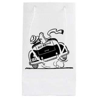 Just Married Couple in Vintage Car Gift Bag