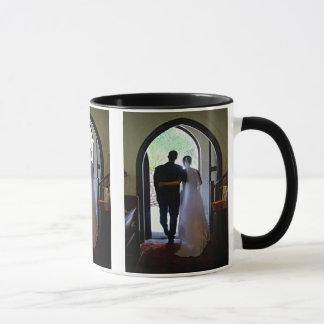 Just Married Couple Leaving Church Mug