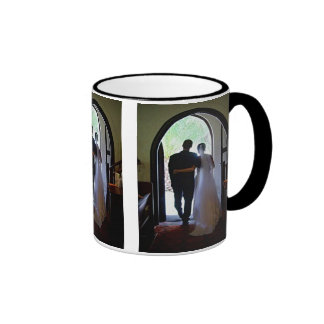 Just Married Couple Leaving Church Mug
