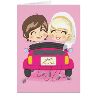 Just Married Couple Note Card