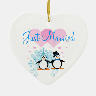 Just Married - Customisable Ceramic Heart Decoration