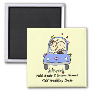 Just Married Customizable Magnet