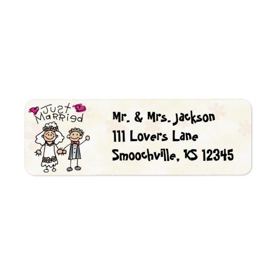 Just Married Cute Return Address Labels