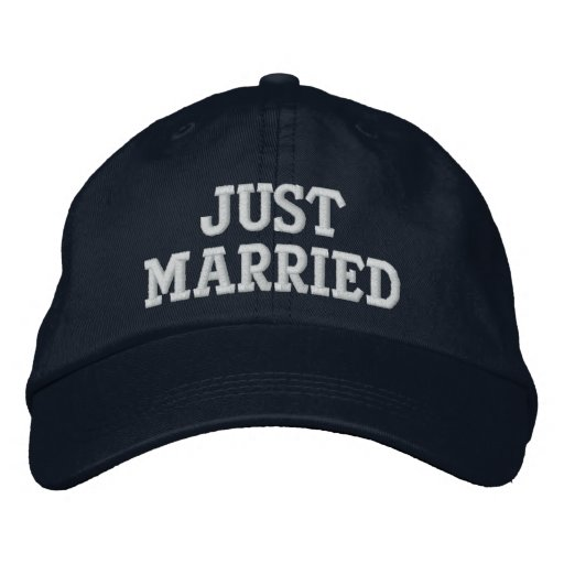 JUST MARRIED EMBROIDERED HATS