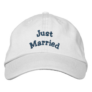 Just Married Embroidered Wedding Hat Embroidered Cap