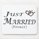 Just Married (Finally) Gay Pride Mouse Mats