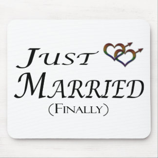 Just Married (Finally) Gay Pride Mouse Pad