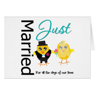 Just Married For All The Days of Our lives Greeting Card