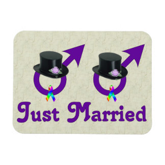 Just Married Formal Gay Male Rectangular Photo Magnet