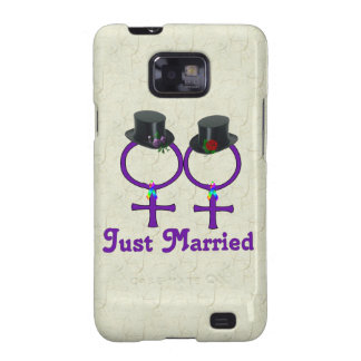 Just Married Formal Lesbian Samsung Galaxy S2 Case