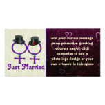 Just Married Formal Lesbian Custom Photo Card
