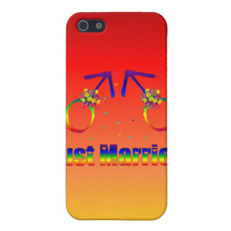 Just Married Gay Men Cases For iPhone 5