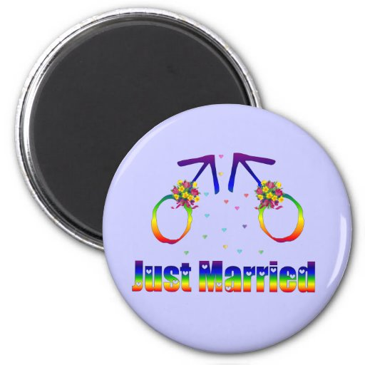 Just Married Gay Men Magnets