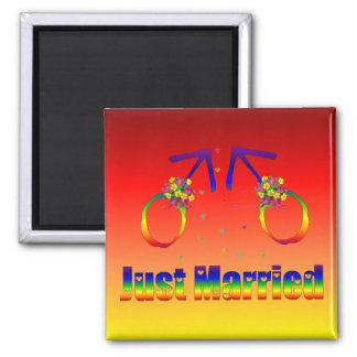 Just Married Gay Men Refrigerator Magnet