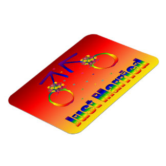 Just Married Gay Men Rectangle Magnet
