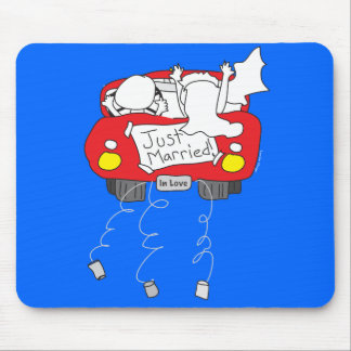 Just Married Gifts and Apparel Mouse Pad