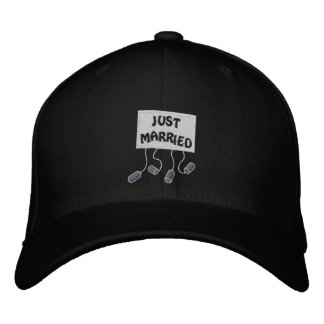 Just Married Groom Customizable Funny Wedding Embroidered Baseball Cap