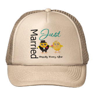 Just Married Happily Ever After Cap